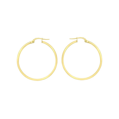 9ct Yellow Gold 35mm Creole Earrings
