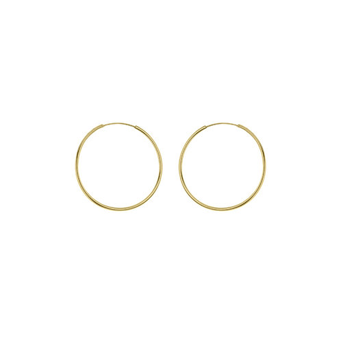 Yellow Gold Vermeil 26mm Classic Hoop Earrings