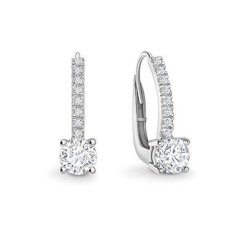 0.99ct Diamond Drop Earrings