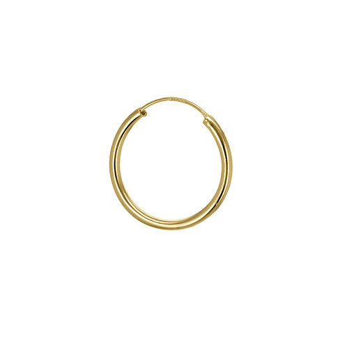 Yellow Gold Vermeil 19mm Classic Hoop