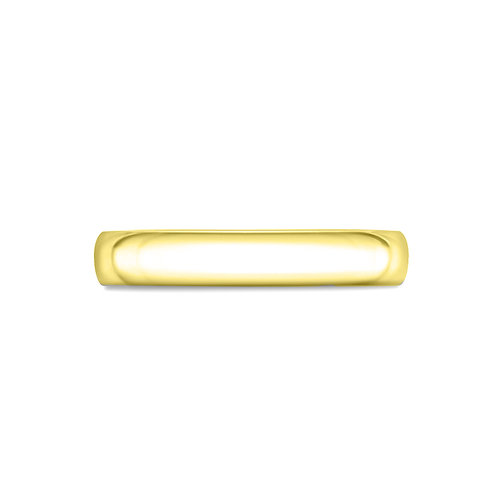 3mm Court Shaped Band in 9ct Yellow Gold