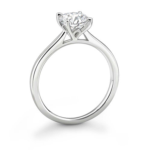 0.50ct Diamond Solitaire Four Claw Ring