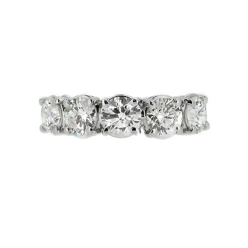 18ct White Gold 2.08ct Diamond Five Stone Ring