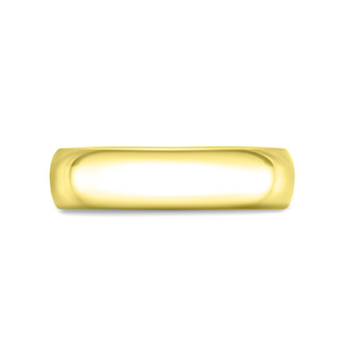 6mm Court Shaped Band in 9ct Yellow Gold