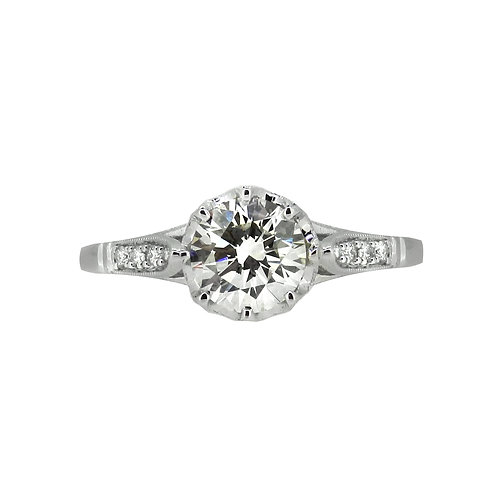 18ct 1.25ct Diamond Solitaire Antique Style Ring