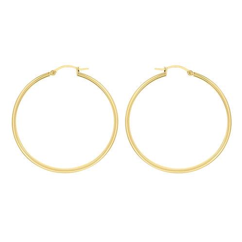 Yellow Gold Vermeil 50mm Hoop Earrings
