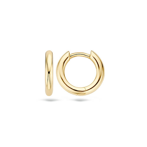 14ct Yellow Gold Thick 12.5mm Huggie Earrings