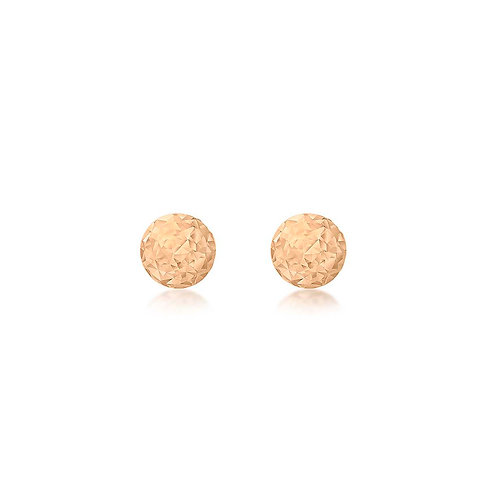 9ct Rose Gold 3mm Sparkly Stud Earrings