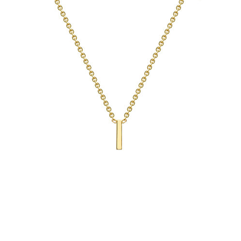 9ct Yellow Gold Initial I