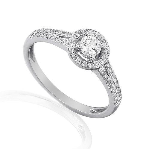 0.32ct Diamond Solitaire Halo Ring