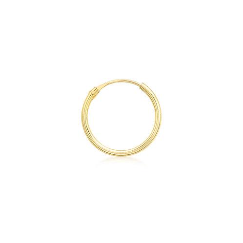 9ct Yellow Gold 13mm Sleeper Hoop
