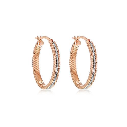 Rose Gold Vermeil 25mm Star Dust Earrings
