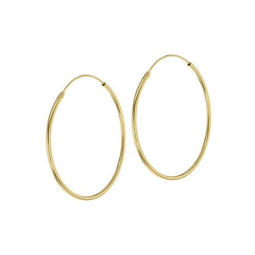 Yellow Gold Vermeil 40mm Classic Hoop Earrings