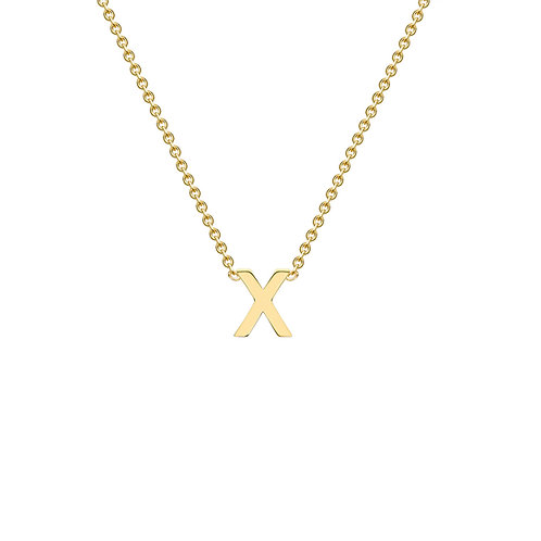 9ct Yellow Gold Initial X