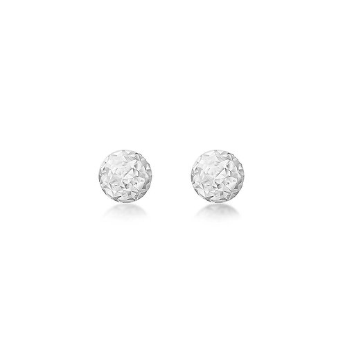 9ct White Gold 3mm Sparkly Stud Earrings