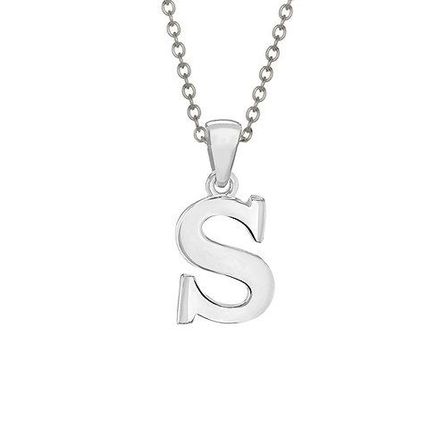 Sterling Silver Letter S Pendant