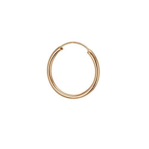 Rose Gold Vermeil 19mm Classic Hoop