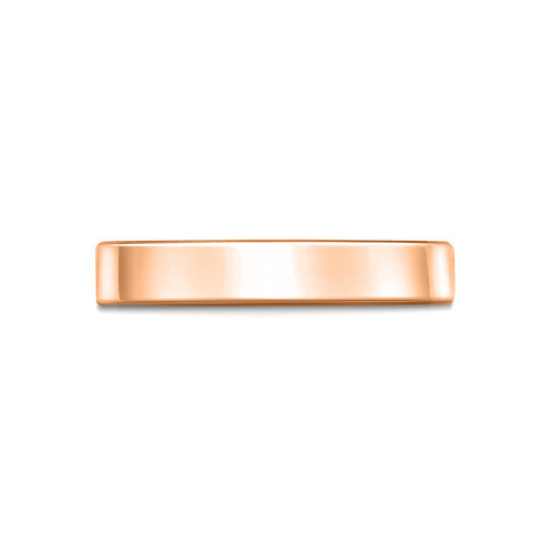 3mm Flat Court Shaped Band in 9ct Rose Gold