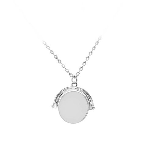 Sterling Silver Spinning Disc Necklace