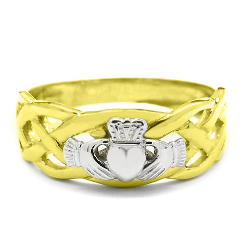14ct Yellow Gold Gents Unity Ring