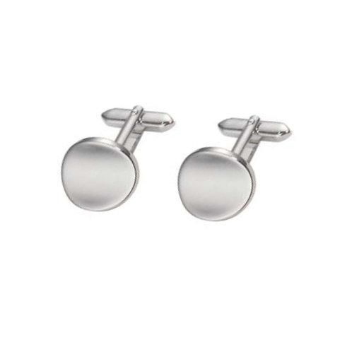 Stainless Steel Round Cufflinks