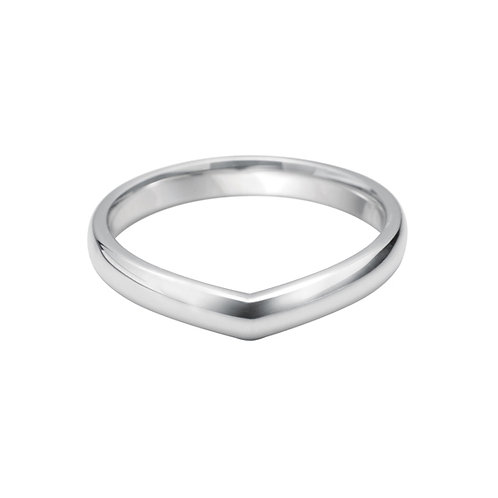 V Shaped Band in 18ct White Gold