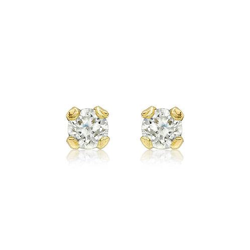 9ct Yellow Gold 3mm Stone Set Stud Earrings