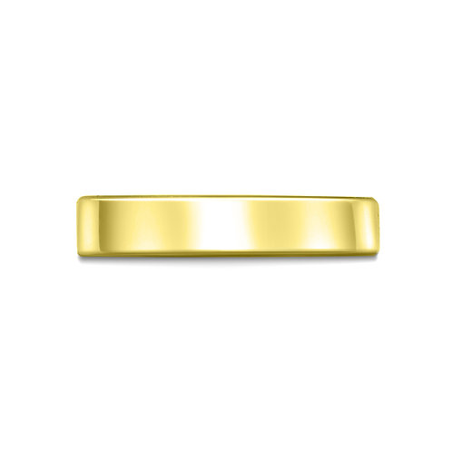 4mm Flat Court Shaped Band in 9ct Yellow Gold
