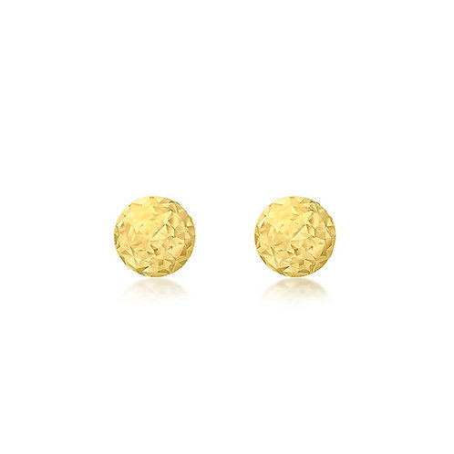 9ct Yellow Gold 3mm Sparkly Stud Earrings