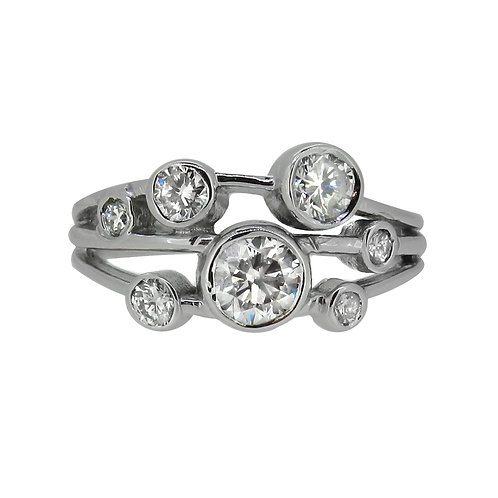 18ct 1.02ct Diamond Multi-Stone Dress Ring