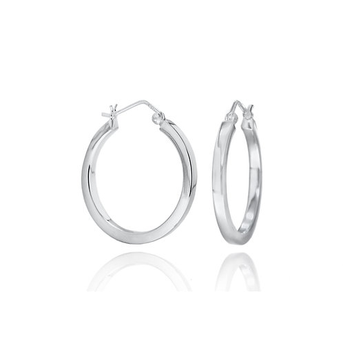 Sterling Silver 30mm Creole Hoops