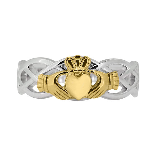 10ct White and Yellow Gold Ladies Unity Ring