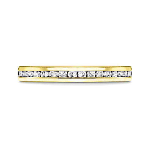 Channel Set Diamond Band in 18ct YG