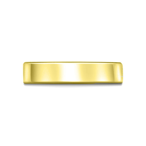 5mm Flat Court Shaped Band in 18ct Yellow Gold