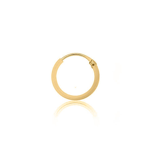 Yellow Gold Vermeil 12mm Classic Hoop