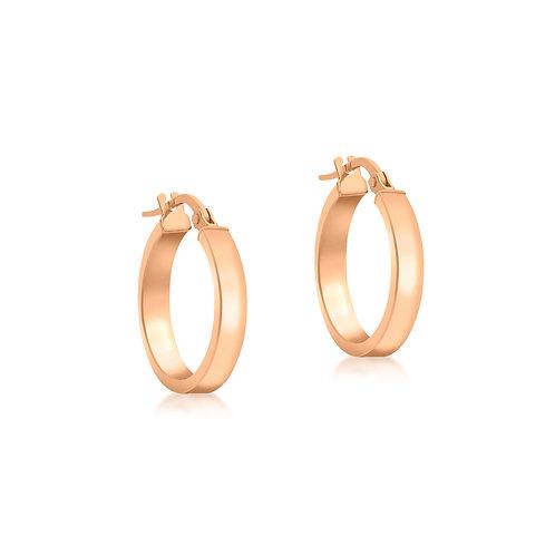 9ct Rose Gold 15mm Hoop Earrings