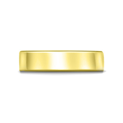 6mm Flat Court Shaped Band in 9ct Yellow Gold