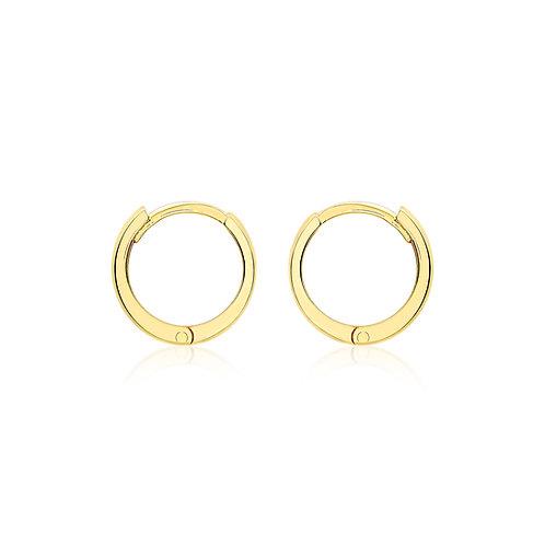 9ct Yellow Gold 11mm Huggie Earrings