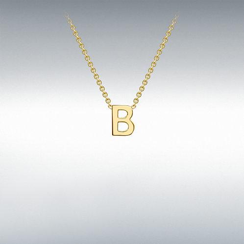 9ct Yellow Gold Initial B