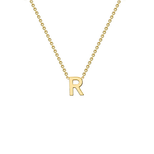 9ct Yellow Gold Initial R