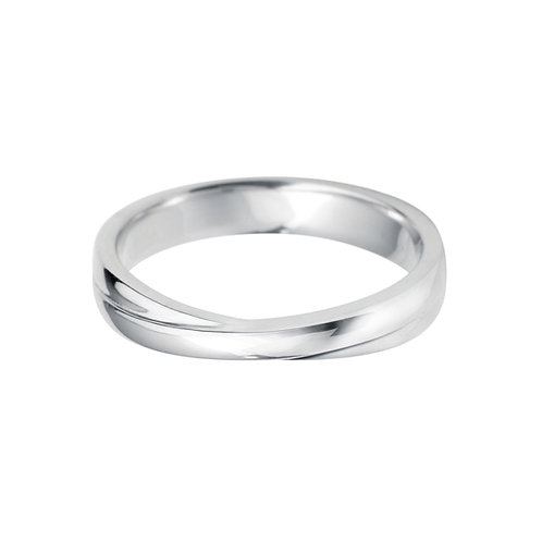 Shaped Band in 18ct White Gold