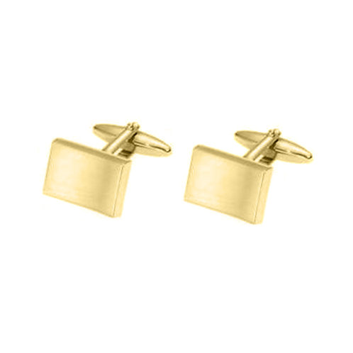 Stainless Steel Gold Plated Cufflinks
