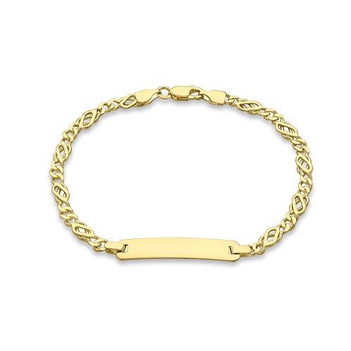 9ct Yellow Gold Ladies I.D. Bracelet