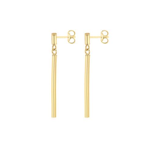 9ct Yellow Gold Bar Drop Earrings