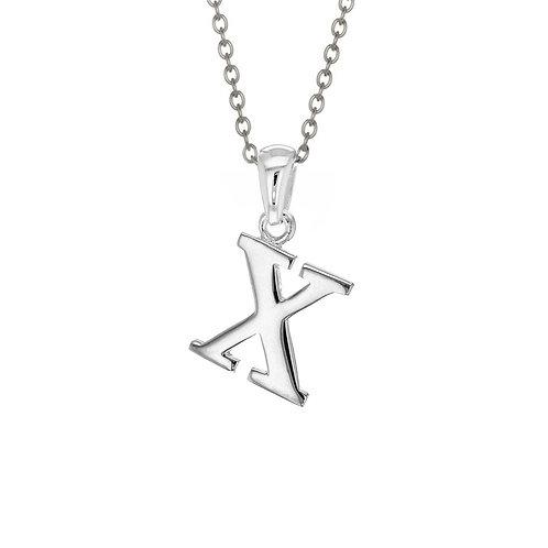 Sterling Silver Letter X Pendant