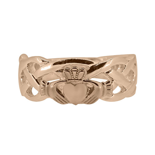 10ct Rose Gold Gents Unity Ring