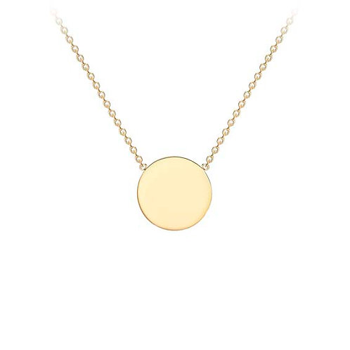 9ct Small Yellow Gold Disc Pendant