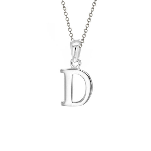 Sterling Silver Letter D Pendant