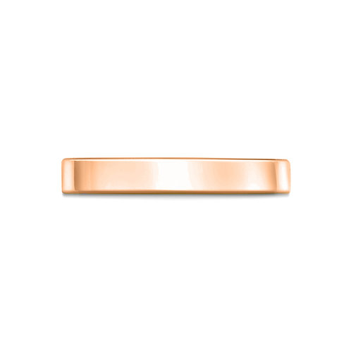 2mm Flat Court Shaped Band in 9ct Rose Gold