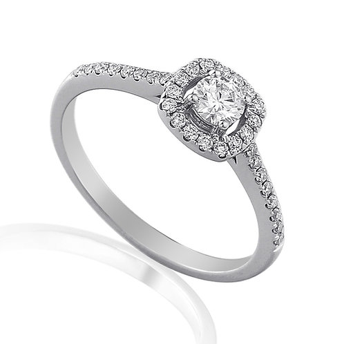 0.30ct Diamond Solitaire Halo Ring
